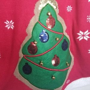 """Planet Gold Sweaters - Planet Gold Plus Size """"Oh Christmas"""" Tree Sweater"""
